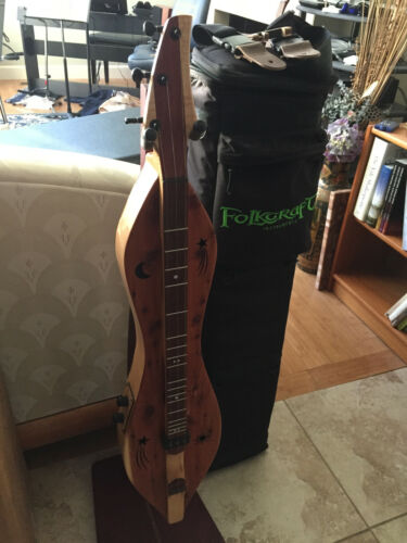Folkcraft Custom Series Professional Mountain Dulcimer w/dual pickups and case