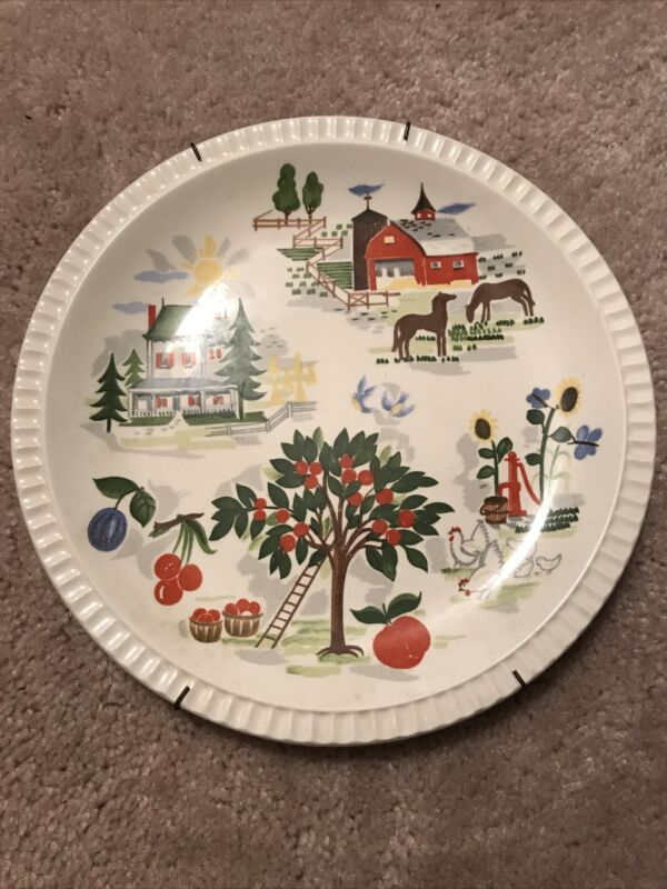 Harmony House Farmer In The Dell Plate By Salem