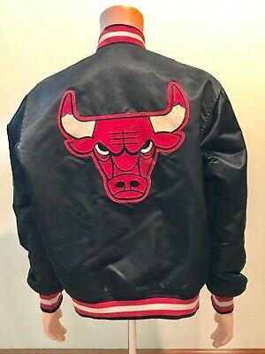Vintage Chicago Bulls Throwback Satin Starter NBA Authentics Jacket Sz Large
