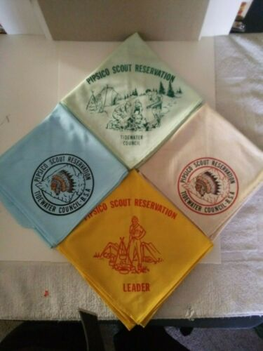 BSA Tidewater Council, Set of 4 Pipsico Scout Reservation Neckerchiefs
