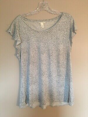 H and M Large Black and White Blouse