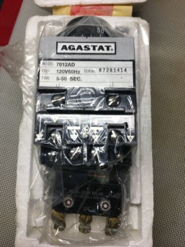 AGASTAT Time Delay Relay # 7012AD New in original box - Never Used