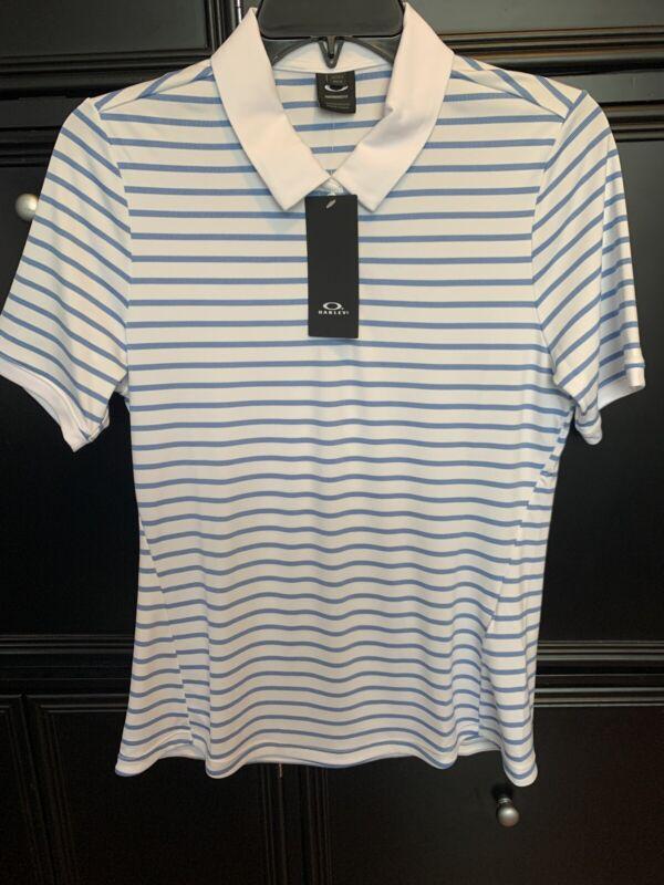 Oakley Womens Enjoy Striped Polo Golf Shirt 532357 - Pick Size -