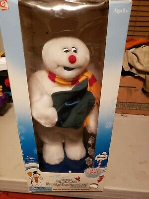 Gemmy Spinning Snowflake Frosty The Snowman Light Up Dancing Singing 2002 in box