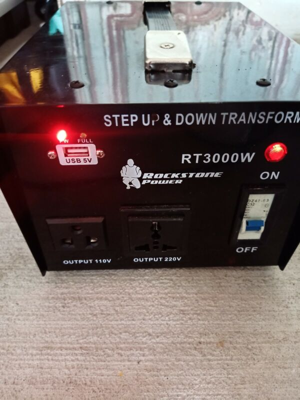 Rockstone Power RT3000W 3000-Watt Heavy Duty Step Up/Down Transformer Converter