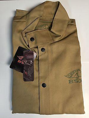 Revco BSX BXTN9C Khaki FR Cotton Welding Jacket XL