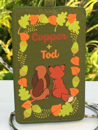 Disney The Fox & The Hound Buddies Card/ID Holder w/Retractable Lanyard Clip NEW