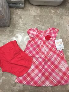 BNWT Carter's Pink and White Dress and Bottoms 6 Months