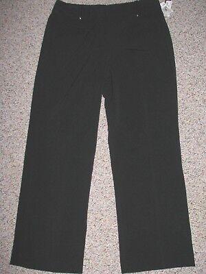 NWT LARRY LEVINE SPT STRETCH BLACK TROUSER PANTS 16 INSEAM 32 32' Inseam Trouser Pant