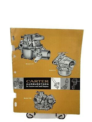 Vintage Carter Carburetors Manual Model Ut N  Nd . Tractors Small Engines