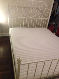 Ikea White Queen Bed Frame (Without Mattress) / Free Delivery