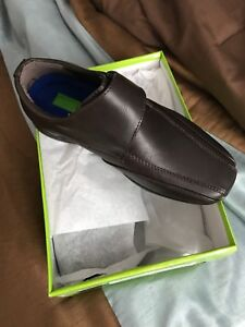 Brand new never worn brown kids shoes