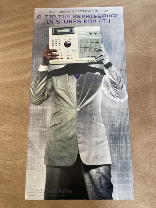 Q-Tip The Renaissance UNIVERSAL MOTOWN PROMO POSTER. Q-TIP. A TRIBE CALLED QUEST