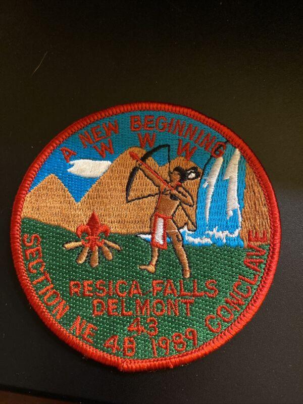 Mint 1989 NE 4B Conclave Boy Scout Patch Delmont Lodge 43