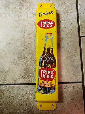 Vintage 1947 DRINK TRIPLE XXX SODA POP PRESS PUSH DOOR ADVERTISING METAL SIGN