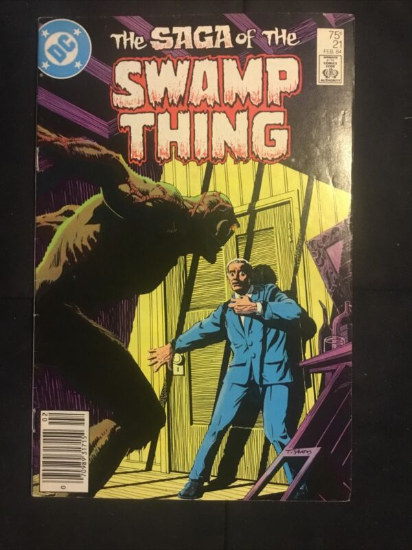 Saga Of The Swamp Thing #21 - 1984 DC Comics - Alan Moore 2nd issue! Newsstand