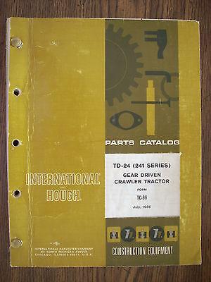 Ih Farmall Mccormick International Td24 241 Series Crawler Parts Manual