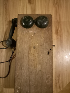 Antique timber wall telephone Frankston North Frankston Area Preview