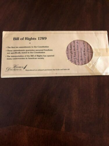"""Bill Of Rights 1789 by Historical Documents Co. 14"""" x 16"""""""