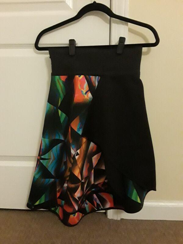 Milly Womens Prism Print bonded Midi wrap skirt