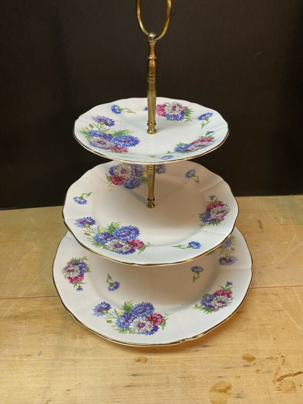 Vintage Royal Adderley 3 Tier Tray...LQQK!