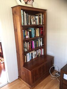 Timber bookcase with blanket box Woody Point Redcliffe Area Preview