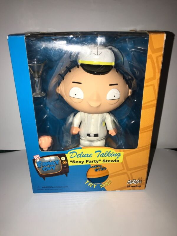 """Deluxe Talking """"Sexy Party"""" Stewie Mezco Collectible Figure New (As Seen on TV)"""