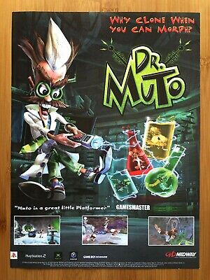 Dr. Muto PS2 Xbox Gamecube GBA 2002 Vintage Game Print Ad/Poster Official UK Art