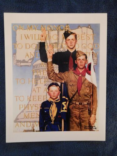 """""""I Will Do My Best"""" Norman Rockwell Boy Scout Print on Heavy Cardstock"""