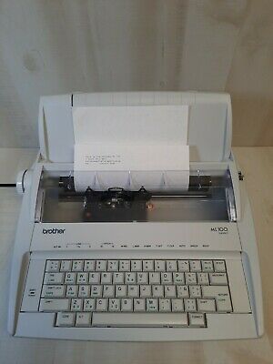 Brother Model Ml100 Standard Electric Typewriter In - Excellent Condition. Works