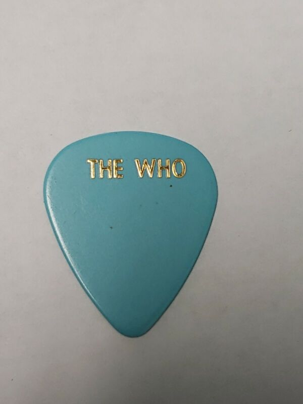 The Who Pete Townshend Roger Daltrey Madison Square MSG guitar Pick 2001 stage