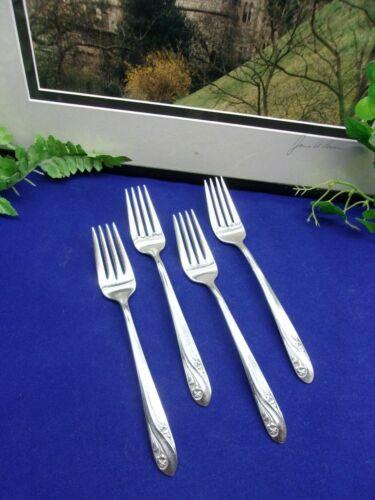 4    VTG  International Silver Holmes & Edwards   ROMANCE   Salad Forks   1952