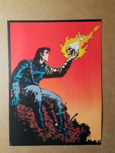 Ghost Rider Flaming Skull Marvel Comics Mini Poster by Javier Saltares