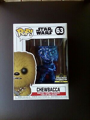 Funko Pop! Chewbacca #63 2019 Star Wars Celebration Exclusive 2500 PC's.