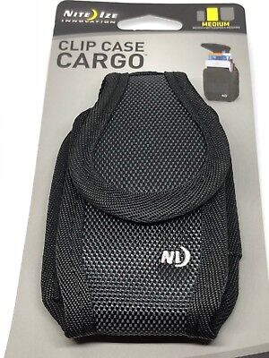 Nite Ize Clip Case Cargo Phone Holster Clippable Phone Holder - Medium (Black) - Holster Nite Ize Clip Case