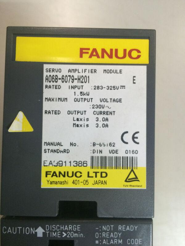 Fanuc Servo Amplifier A06b-6079-h201 Refurbished Unit...exchange Only!!