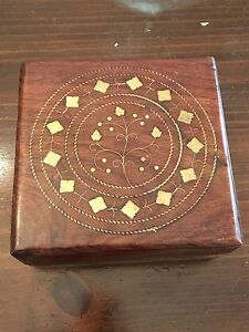 Two lovely wooden boxes $10 each or $15 for both