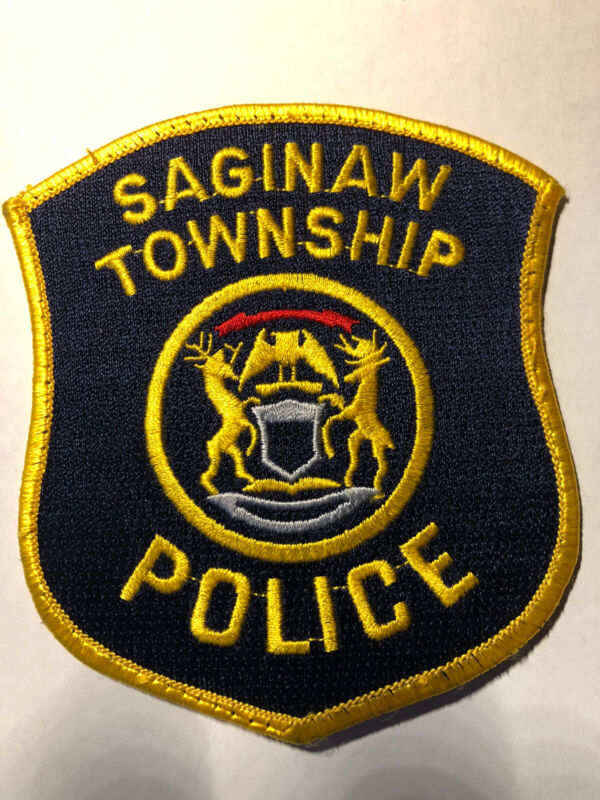 Vintage Saginaw Township Police Patch ~ New Condition