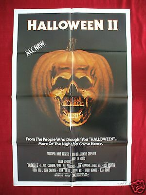 HALLOWEEN II 2 *1981 ORIGINAL MOVIE POSTER 1SH NSS ISSUE PUMPKIN SKULL MASK NM-M