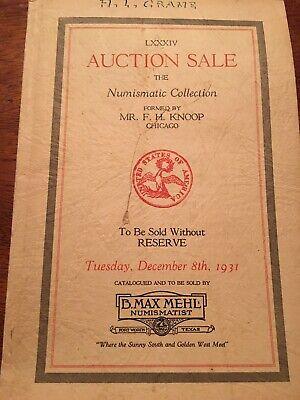 VINTAGE B. MAX MEHL Auction Numismatic Collection Catalog December 18, 1931