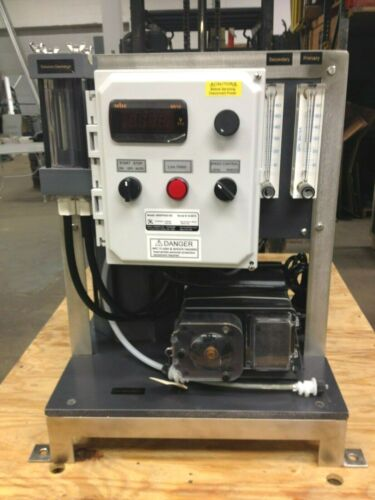 Excell Feeders Polymer Feeder w/ FLEXFLO Pump on Stainless & Plastic Skid Frame