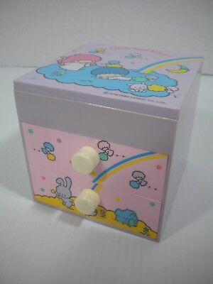 "Vintage ""Little Twin Stars"" Sanrio 1983 Jewelry Box Drawers Chest Mirror Japan"