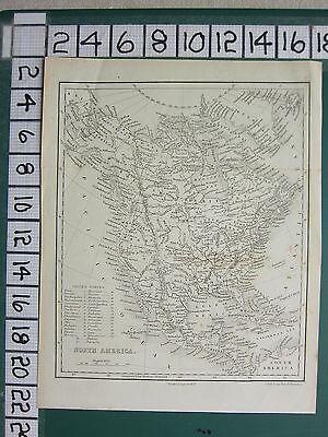 c1840 VICTORIAN MAP ~ NORTH AMERICA ~ UNITED STATES BRITISH TERRITORY MEXICO