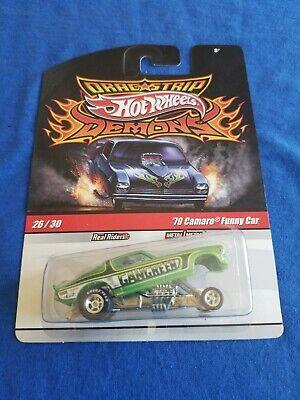 2009 Hot Wheels Demons 70 CAMARO FUNNY CAR Gangreen EXCELLENT CARD