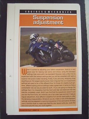 engine & mechanics SUSPENSION ADJUSTMENT collector file fact sheet.