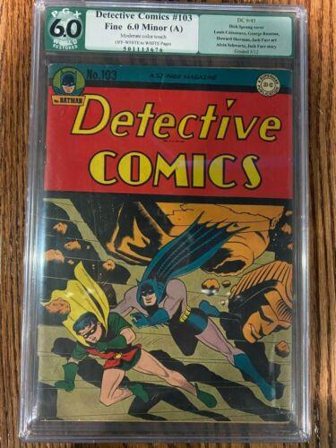 DETECTIVE COMICS #103 BATMAN DC COMICS PGX 6.0