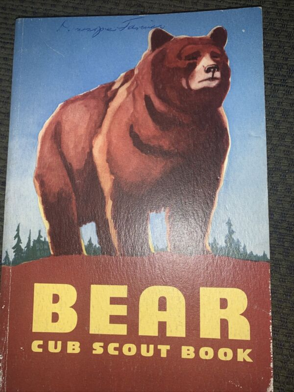 1954 Boy Scout Bear Cub Scout Book  BSA