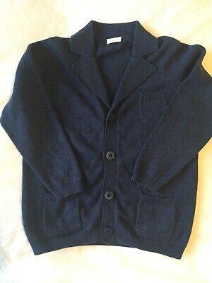 Il Gufo boy's blue cotton cardigan (age 4Y)