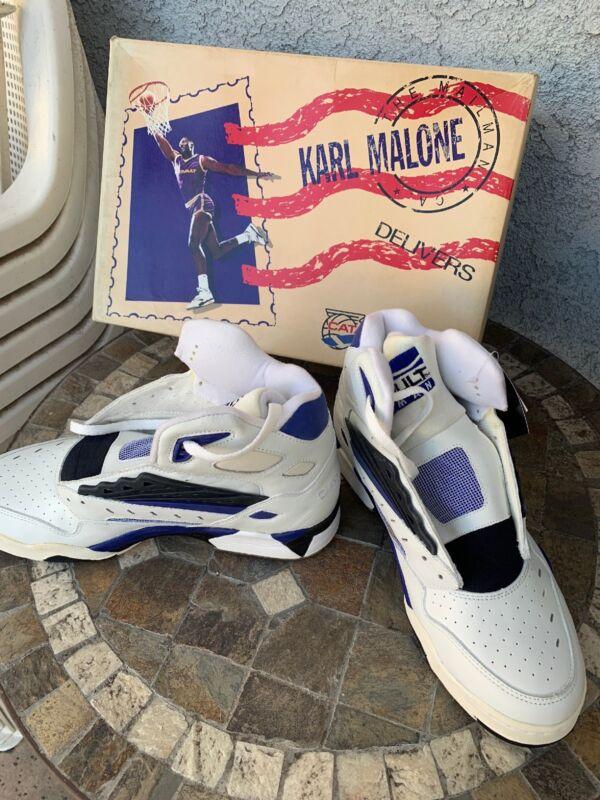 VTG 1991 LA Gear Karl Malone Mailman Catapult Basketball Shoes US 10 Royal White