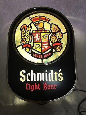 Vintage 1974  Schmidt's  Light Beer Lighted Sign  Schmidt & Sons PA Man Cave